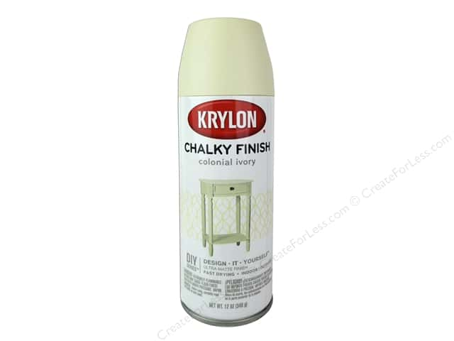 Krylon Chalky Finish Paint 12 oz. Colonial Ivory