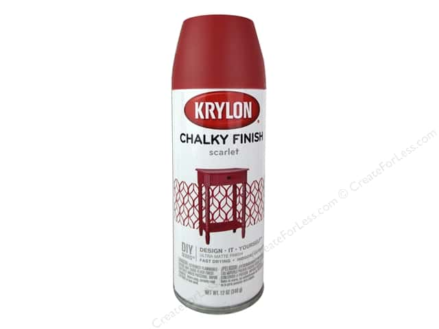 Krylon Chalky Finish Paint 12 oz. Scarlet
