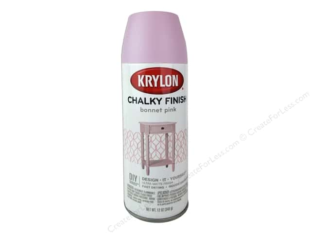 Krylon Chalky Finish Paint 12 oz. Bonnet Pink