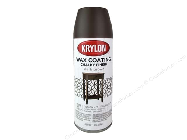 Krylon Chalky Finish Wax Coating 11.5 oz. Dark Brown