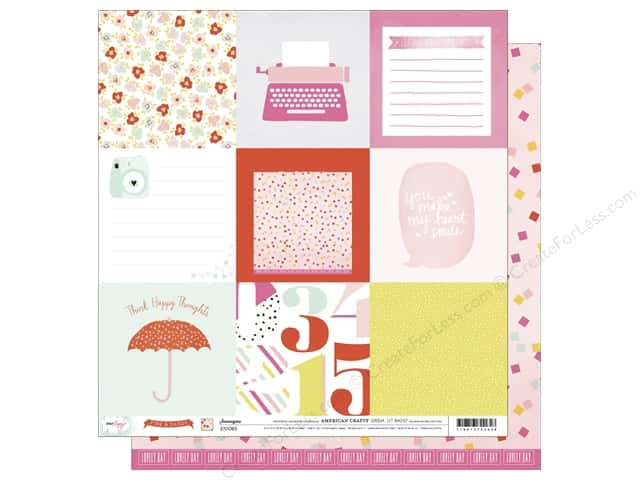 American Crafts 12 x 12 in. Paper Dear Lizzy Fine & Dandy Shenanigans (25 sheets)