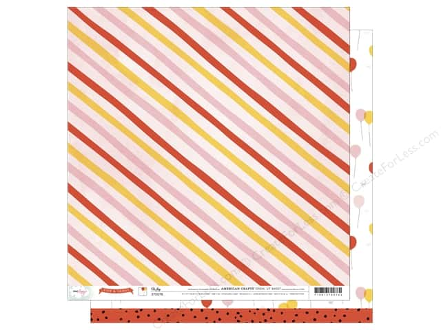 American Crafts 12 x 12 in. Paper Dear Lizzy Fine & Dandy Oh Joy (25 sheets)