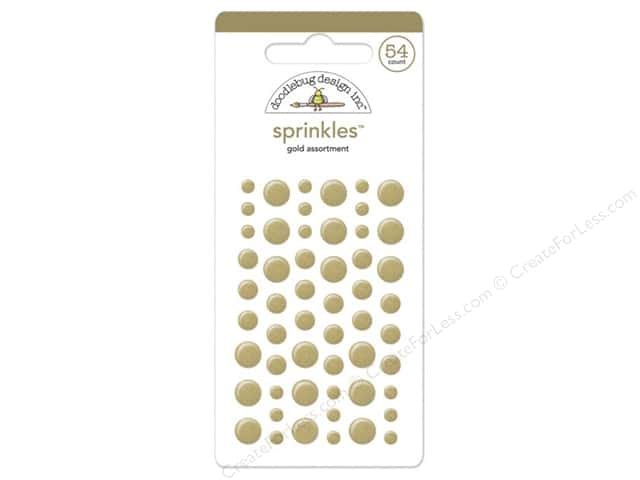 Doodlebug Sprinkles Stickers Gold
