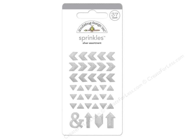 Doodlebug Sprinkles Stickers Arrow Glitter Silver