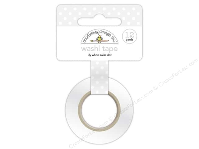 Doodlebug Washi Tape 5/8 in. x 12 yd. Lily White