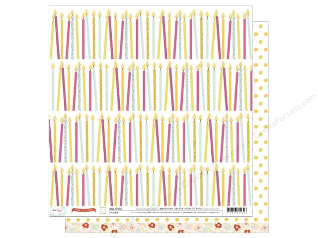 American Crafts 12 x 12 in. Paper Dear Lizzy Fine & Dandy Make A Wish (25 sheets)