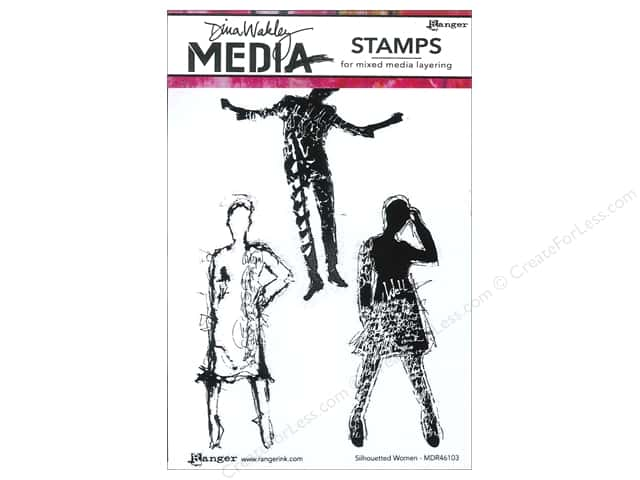 Ranger Dina Wakley Media Stamp Silhouetted Women