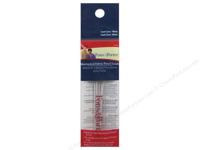 Fons & Porter Notions Mechanical Pencil Refill White 10pc