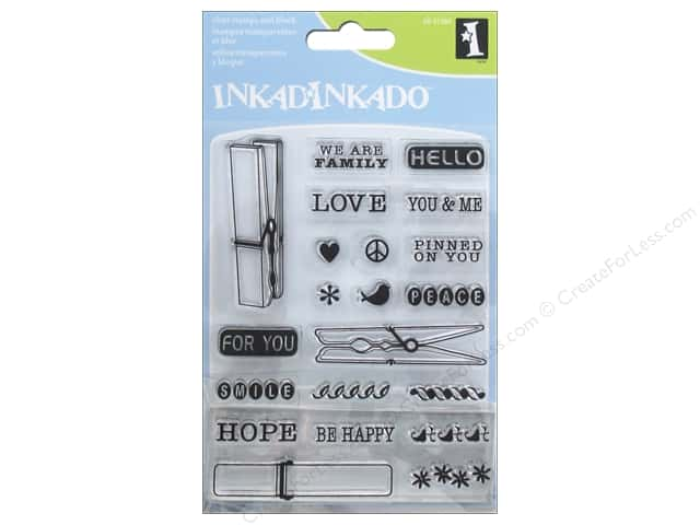 Inkadinkado Clear Stamp Inchie Bundle Cloth Pins