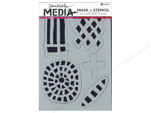 Ranger Dina Wakley Media Stencil Graphic Shapes
