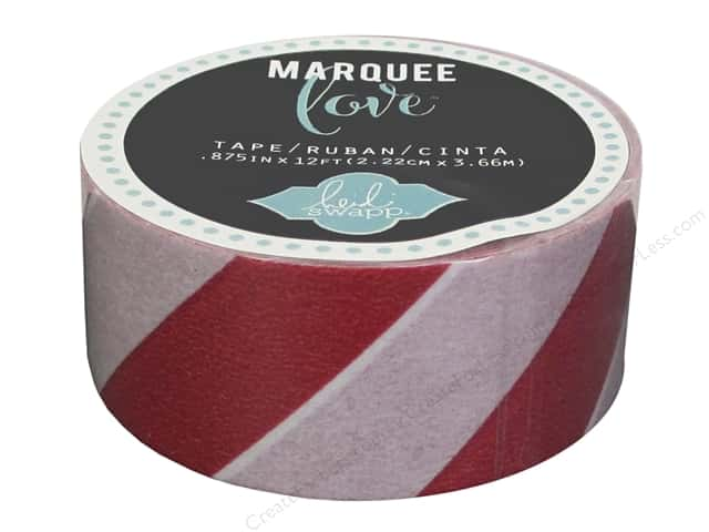 Heidi Swapp Marquee Love Washi Tape 7/8 in. Stripe Red