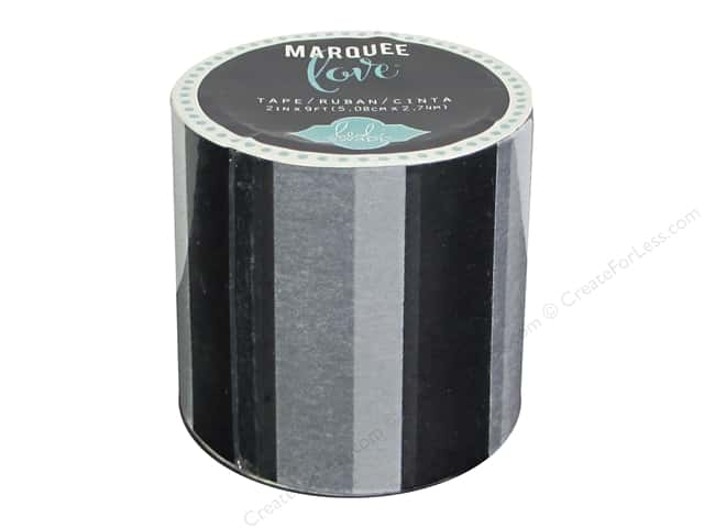 Heidi Swapp Marquee Love Washi Tape 2 in. Stripe Black