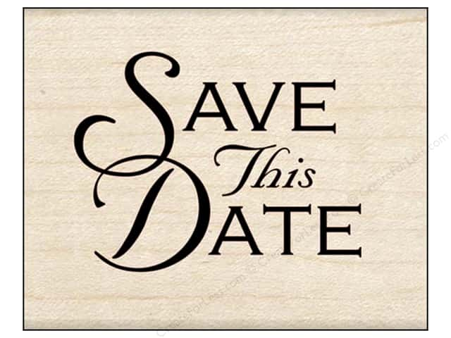 Inkadinkado Wood Stamp Save This Date