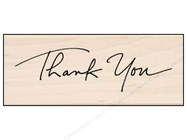 Inkadinkado Wood Stamp Script Thank You