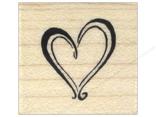 Inkadinkado Wood Stamp Heart