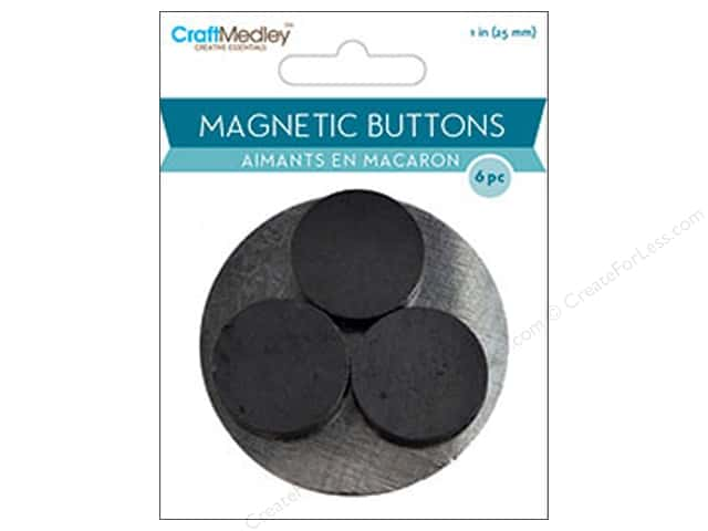 Craft Medley Round Magnets 1 in. 6 pc.