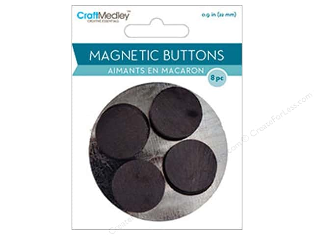 Craft Medley Round Magnets 7/8 in. 8 pc.