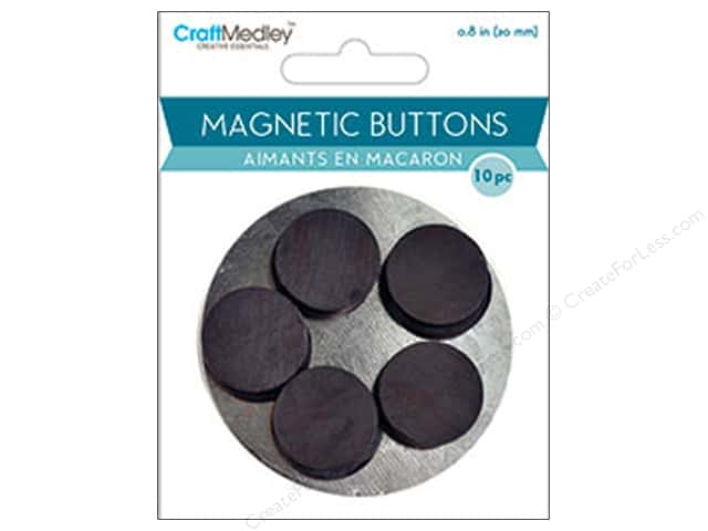 Craft Medley Round Magnets 13/16 in. 10 pc.