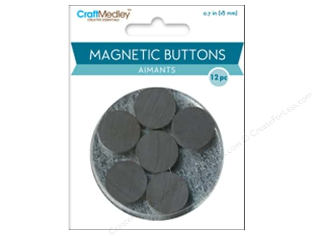Craft Medley Round Magnets 11/16 in. 12 pc.