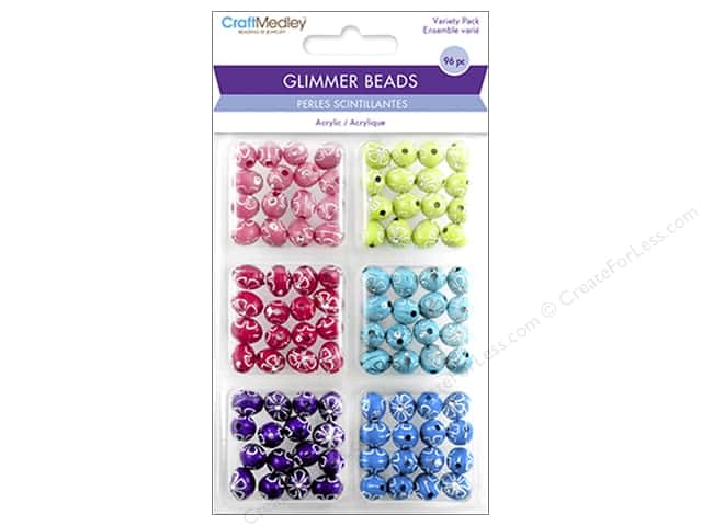 Multicraft Bead Glimmer Daisy Bling Variety Pack