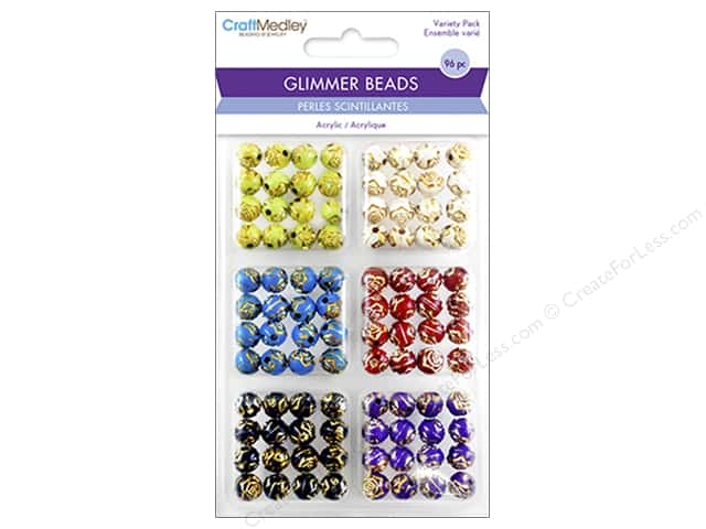 Multicraft Bead Glimmer Gilded Rose Variety Pack