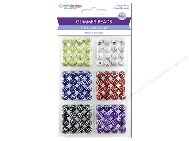 Multicraft Bead Glimmer Disco Ball Variety Pack
