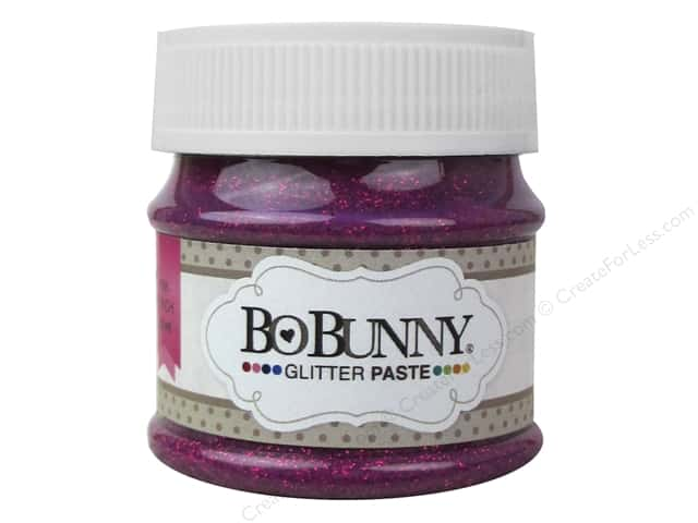 Bo Bunny Glitter Paste 1 oz. Pink Punch