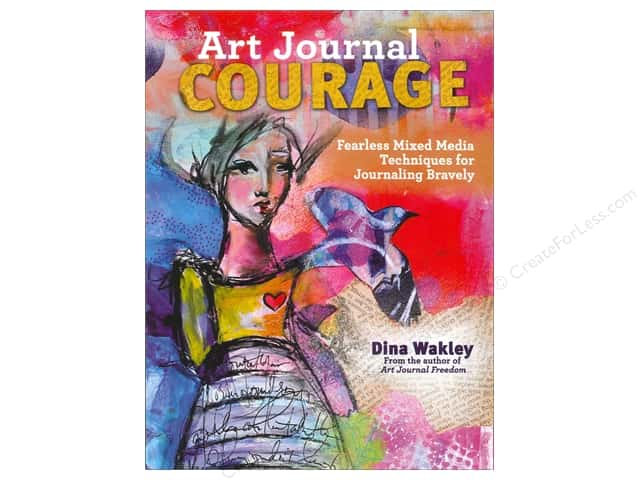 Ranger Dina Wakley Art Journal Courage Book