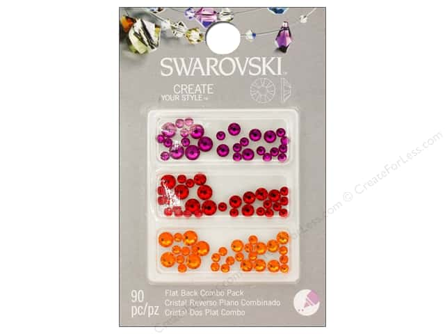 Cousin Swarovski Flatback Rhinestone Mix 90 pc. Brights