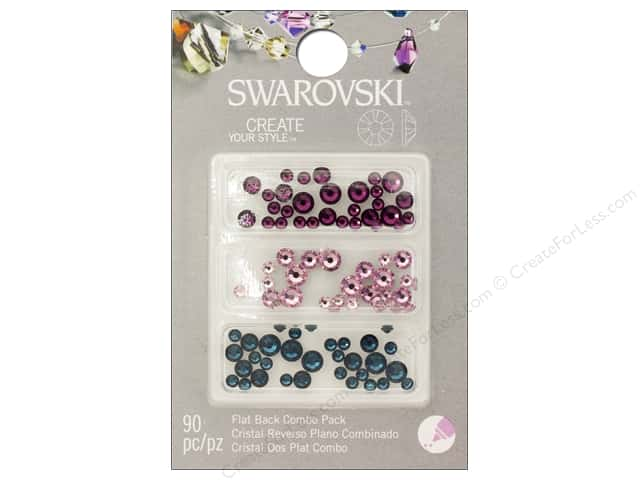 Cousin Swarovski Flatback Rhinestone Mix 90 pc. Blue Purple