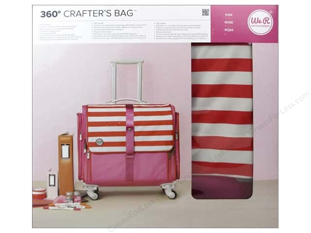 We R Memory Keepers 360 Crafter's Rolling Bag Pink