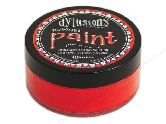 Ranger Dylusions Paint 2 oz. Postbox Red