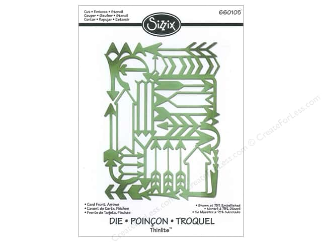 Sizzix Thinlits Die 1 pc. Arrows Card Front