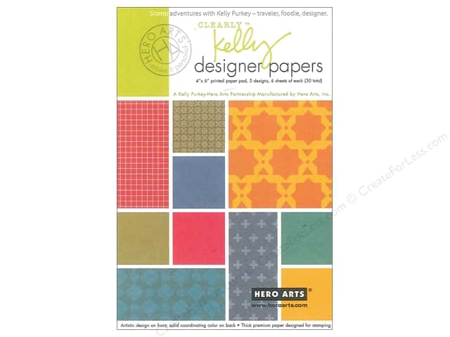 "Hero Arts Accessories Clearly Kelly Designer Paper Pad 4""x 6"""