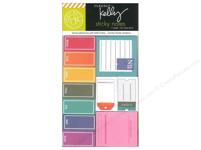 "Hero Arts Accessories Clearly Kelly Sticky Notes Pad 4""x 6"""