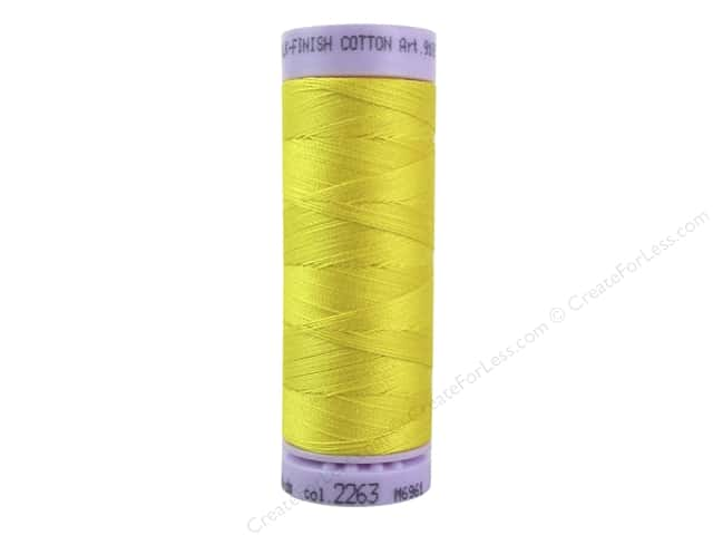 Mettler Silk Finish Cotton Thread 50 wt. 164 yd. #2263 Vibrant Yellow