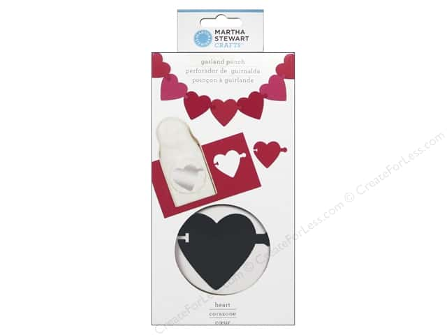 Martha Stewart Punch Garland Heart
