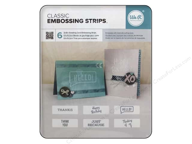 We R Memory Embossing Strips Phrases Classic