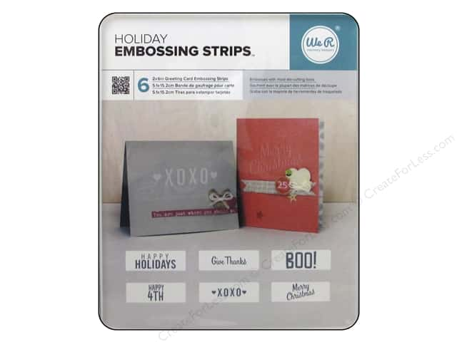 We R Memory Keepers Embossing Strips Holiday Phrases