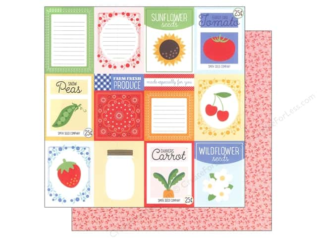 Imaginisce Paper 12 x 12 Heartland Farm, Farm Fresh (25 sheets)