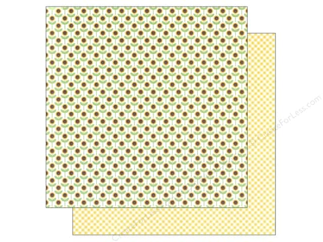 Imaginisce Paper 12 x 12 Heartland Farm Sunflower (25 sheets)
