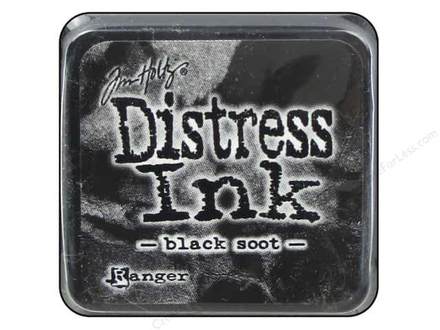 Tim Holtz Distress Mini Ink Pad by Ranger Black Soot