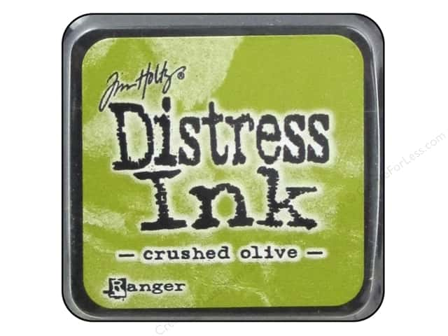 Tim Holtz Distress Mini Ink Pad by Ranger Crushed Olive