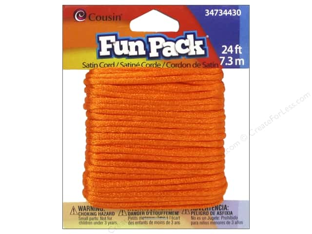 Cousin Fun Pack Satin Cord Orange