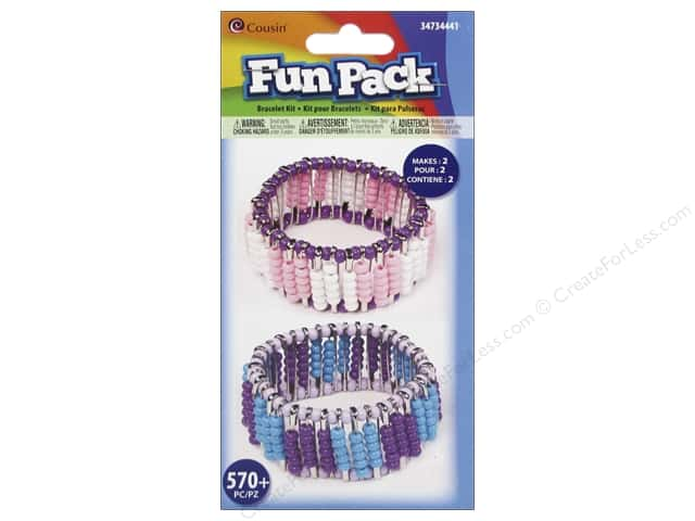 Cousin Fun Pack Safety Pin Bracelet