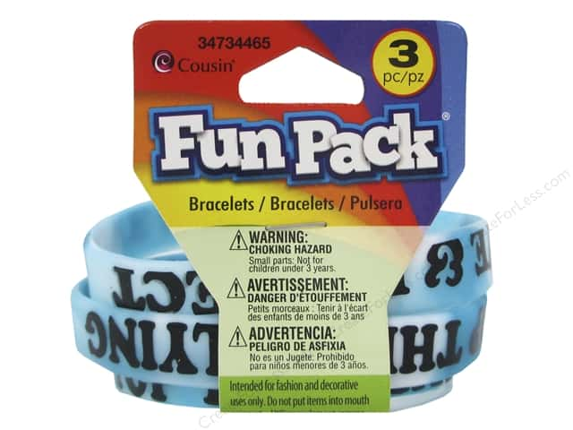 Cousin Fun Pack Anti Bully Bracelets Blue/White