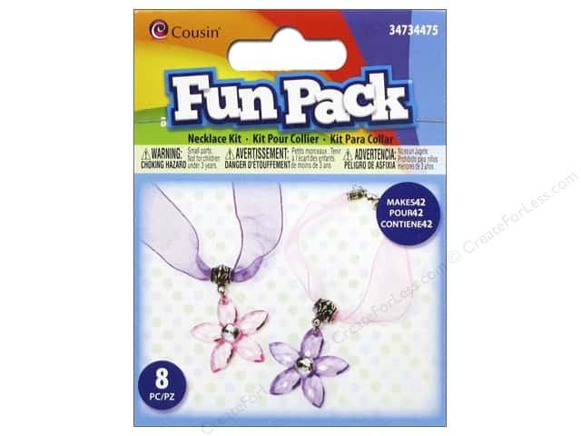 Cousin Fun Pack Kit Flower Necklace Pink/Purple