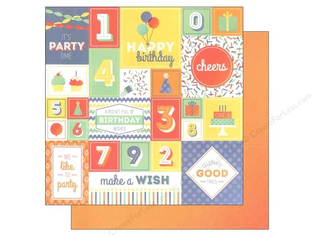 "We R Memory Keepers Cakes & Candles Paper 12""x 12"" Party Time (12 sheets)"