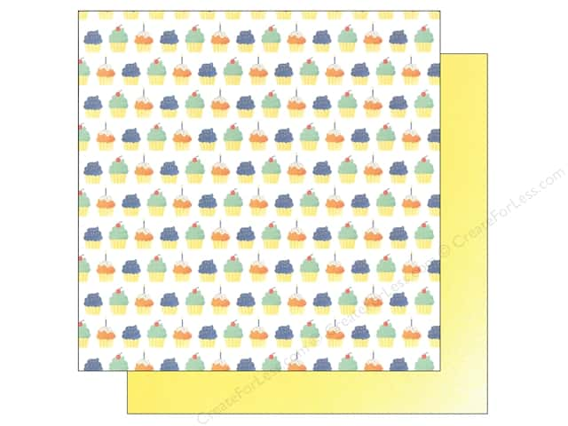 "We R Memory Keepers Cakes & Candles Paper 12""x 12"" Cupcakes (12 sheets)"
