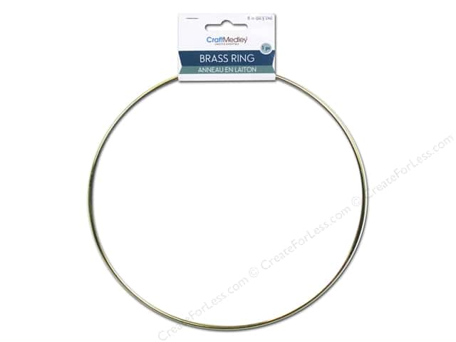 Craft Medley Brass Ring 8 in. 1 pc.
